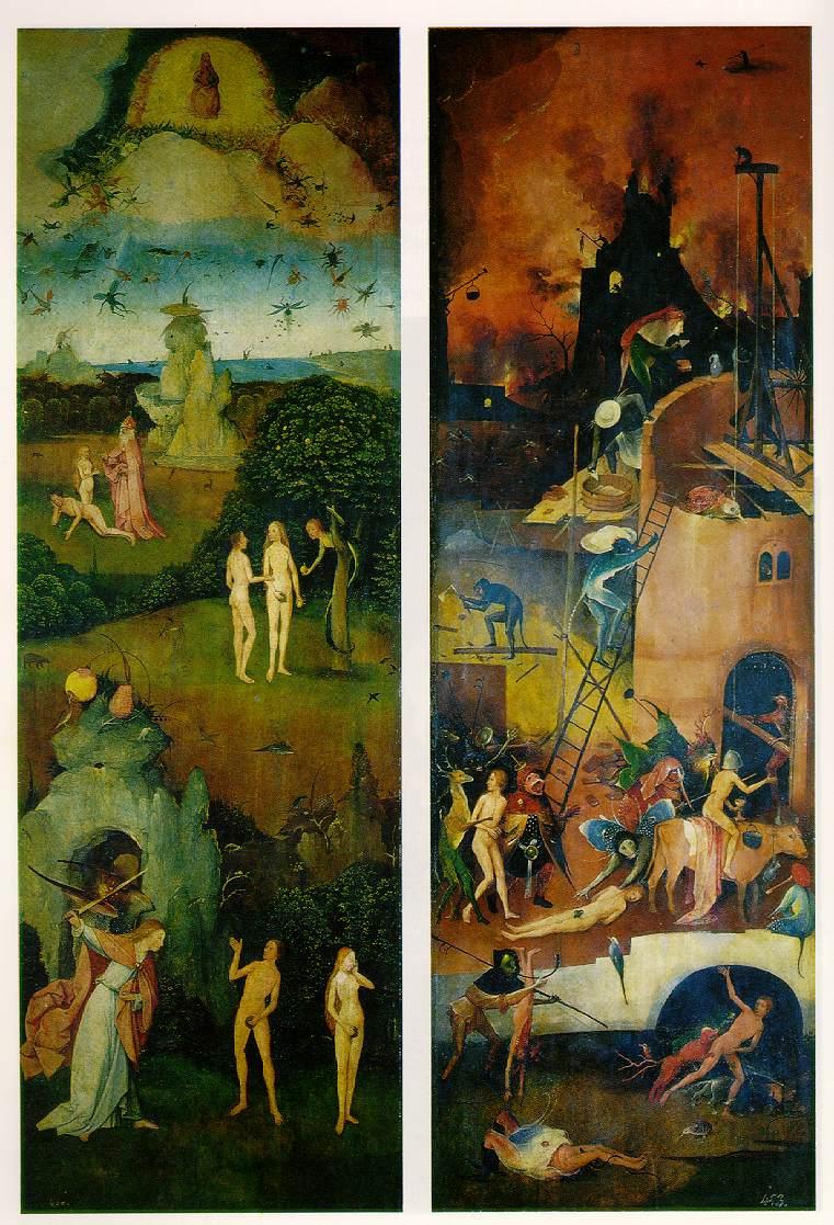 Paraíso e Infierno, pintura de El Bosco.